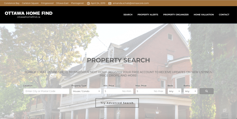Ottawa Home Find - Real Estate Website Design - Loop Marketing